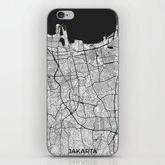 Jakarta Map Gray iPhone & iPod Skin