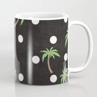 palm trees Mugs featuring Palm Trees by BTP Designs