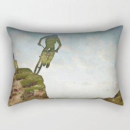 Biking Off Road Rectangular Pillow