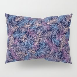 Ultraviolet Pine Leaves pattern Pillow Sham