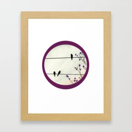 Birds On Wire Framed Art Print