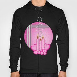 Candles and hearts Hoody