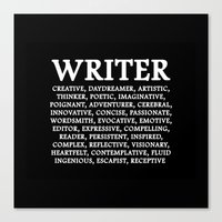 writer Canvas Prints featuring WRITER by IDMP