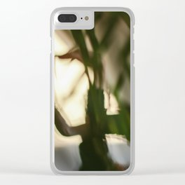 Dancing people, dance, shadows, hands and plants, blurred photography, dancer, forest, yoga Clear iPhone Case