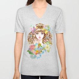Lara-flower girl Unisex V-Neck