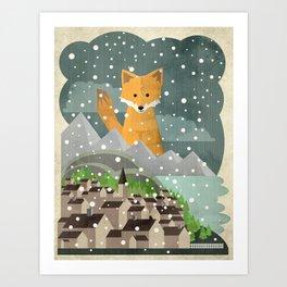 Benevolent Fox  Art Print