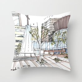 First Baptist Dallas Throw Pillow