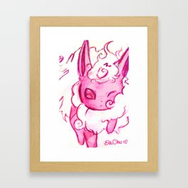 Flareon kawaii Framed Art Print