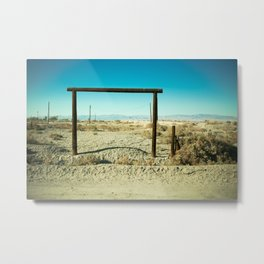 Dude Where's My Ranch - Salton Sea Metal Print