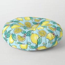 Tropical Vibe Lemon Pattern Floor Pillow