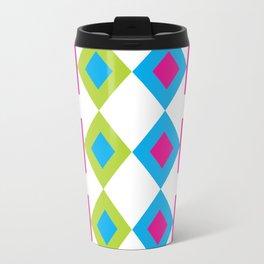 Colorful Nested Diamonds & Squares Travel Mug