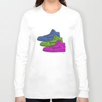 sneakers Long Sleeve T-shirts featuring Colorful sneakers by YTRKMR