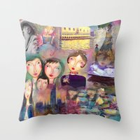 monet Throw Pillows featuring Monet by sara aguiar