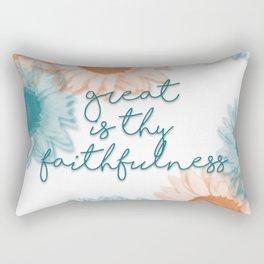 Great is Thy Faithfulness Rectangular Pillow
