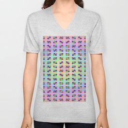 Colorful funny ... Unisex V-Neck