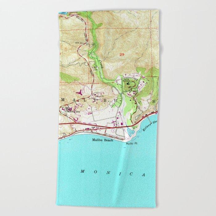 Vintage Map of Malibu California (1950) Beach Towel by vuramedia on hollywood map, corona del mar map, desert cities map, mt laguna map, forrest park map, la jolla map, pacific palisades map, monterey map, san fernando valley map, ventura map, new cuyama map, pinon hills map, miami map, abalone cove map, zuma beach map, mid city map, los angeles map, santa monica map, pismo coast map, wilshire corridor map,