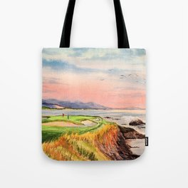 Pebble Beach Golf Course Hole 7 Tote Bag