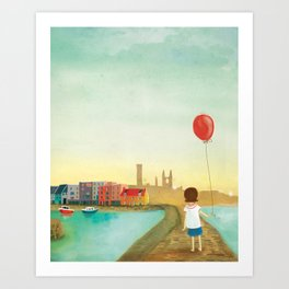 St Andrews Pier Art Print