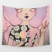 flora Wall Tapestries featuring Flora by lOll3