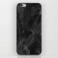 Feathered (Black). iPhone Skin