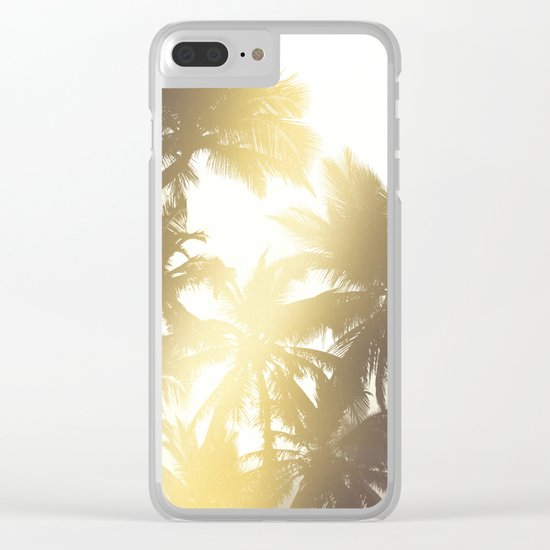 Palm tree print Clear iPhone Case