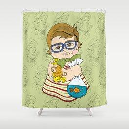 Tattooed Baby 003 Shower Curtain