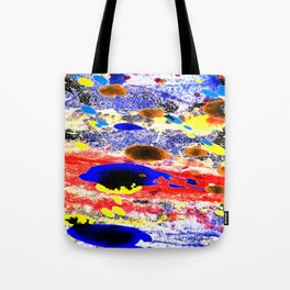 Abstract watercolour collage painting Tote Bag