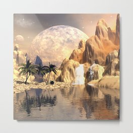 Mystical moon landscape Metal Print