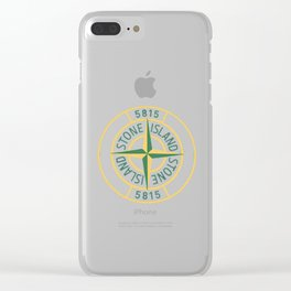 stone island logo Limitied Edition Clear iPhone Case