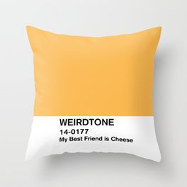 My Best Friend is Cheese Throw Pillow
