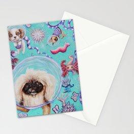 atlantean pups by Nefertara Stationery Cards