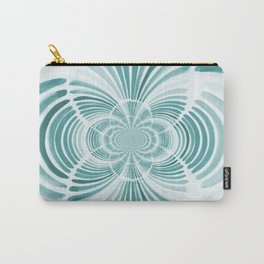 Teal Abstract Design Carry-All Pouch