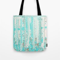 knitting Tote Bags featuring Feminine Knitting by Jessielee