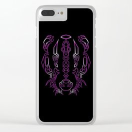 Tribal Badger ~ MYSTIC VAR Clear iPhone Case
