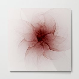 Blood Flower Fractal Metal Print