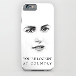 Lookin' at Country iPhone Case