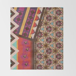 Zimbabwe Multi With Texture Throw Blanket