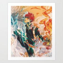 Half-Cold Half-Hot Art Print