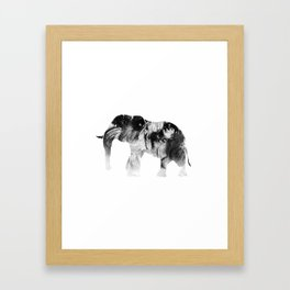 Black & White Abstract Elephant Framed Art Print