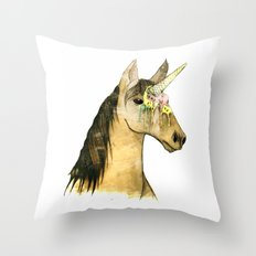 ICE CREAM UNICORN Throw Pillow