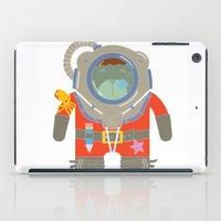 scuba iPad Cases featuring Oso Buzo (Scuba Dibear) by EinarOux