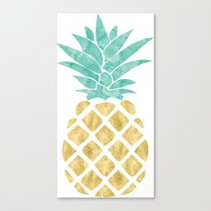 Gold Pineapple Canvas Print