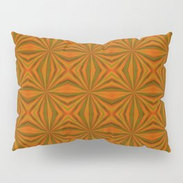 Autumnal Leaves Red Green and Amber Pattern Pillow Sham