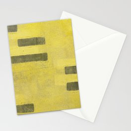 Stasis Gray & Gold 3 Stationery Cards