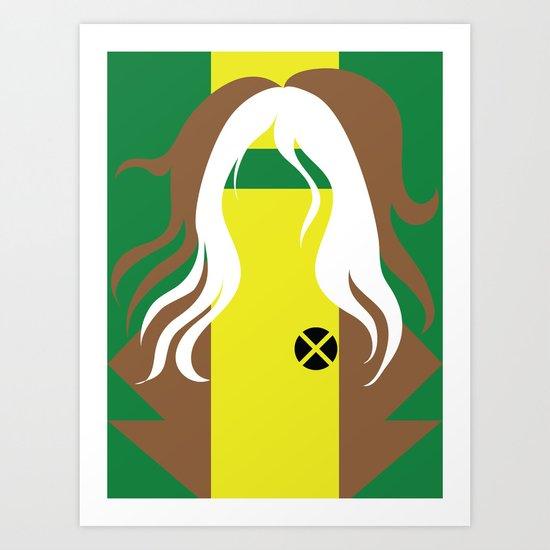 Rogue - Minimalist - X-Men Art Print