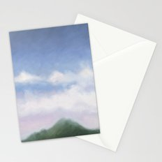 mountain in the early evening Stationery Cards