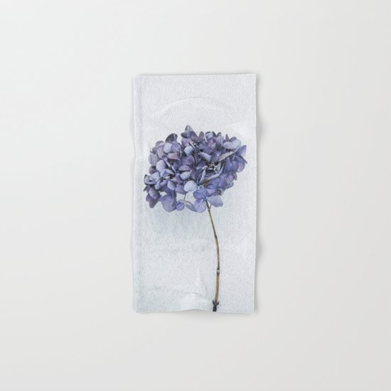Dried Blue Hydrangea Hand & Bath Towel