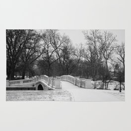 Winter Solitude - St. Louis Snowy Bridge Rug