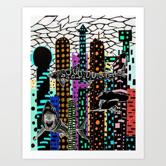 Sharknado 2 Art Print