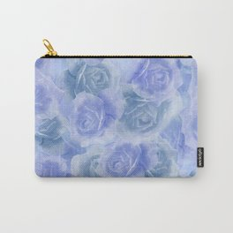 Rosey Blue Carry-All Pouch